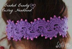 Queen Anne's Lace Headband- Beaded Beauty Paisley Headband
