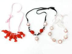 Love these candy necklaces I made for Valentine's Day. Have to make more! @bowdabra