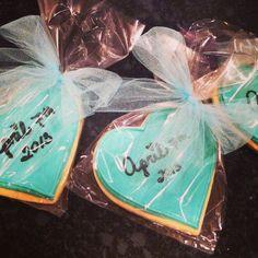 Tiffany blue wedding shower cookies, by Tiffany Green