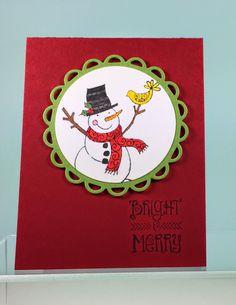 Hampton Art Blog: Two Snowy Friend cards by designer Joy Ott