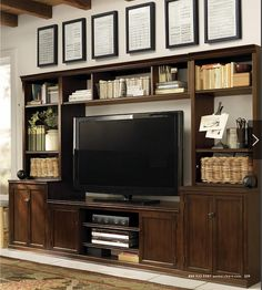Home entertainment furniture wall unit aspenhome essentials lifestyle fireplace console with hutch. Entertainment Center Kitchen, Diy Entertainment Center, Entertainment Weekly, Entertainment Furniture, Entertainment System, Fireplace Console, Large Tv Stands, Tv Stand Designs, Essentials