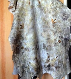 felted shawl on eco printing