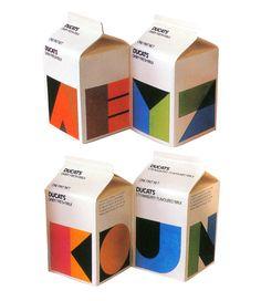 Beautiful 1980s milk packaging