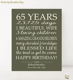 Celebrate your loved ones birthday with this special gift, using your words…