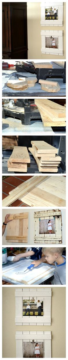 DIY Frame Tutorial created a great knockoff with new wood