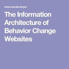 The Information Architecture of Behavior Change Websites