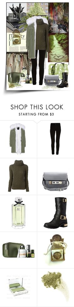 """Olive Green and Black"" by snje2105 ❤ liked on Polyvore featuring Gothenburg London, Mr & Mrs Italy, VILA, Ralph Lauren Black Label, Proenza Schouler, Gucci, Vince Camuto, La Mer, Bare Escentuals and olivegreenandblack"
