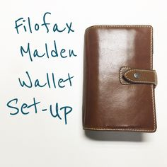 #Filofax Malden Wallet Set-Up