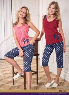 Yeni İnci süprem kapri takım BPJ 962 Pajama Outfits, Girl Outfits, Casual Outfits, Fashion Outfits, Active Wear For Women, Women Wear, Night Suit For Women, Girls Night Dress, Ropa Interior Babydoll
