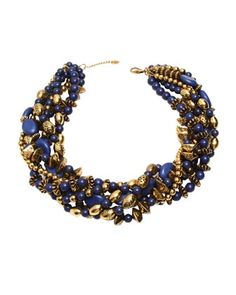 Black Tee is all you need! Amrita Singh - Lapis Multi-Strand Chain Necklace - Last Call