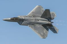 An Air Combat Command F-22 Raptor Demonstration Team aircraft flies during the AirPower over Hampton Roads Open House at Langley Air Force Base, Va., April 24, 2016. The team also works with the Air Force Heritage flight exhibiting the professional qualities the Air Force develops in the people who fly, maintain and support these aircraft. (U.S. Air Force photo/Senior Airman Kayla Newman)