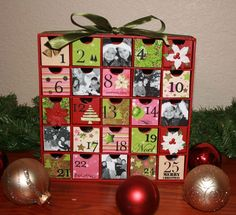 I have this advent drawer calendar already....I REALLY need to dress it up!