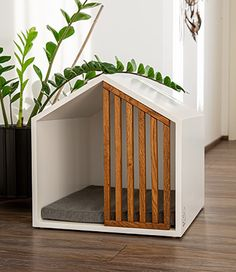 Modern Dog Houses, Cool Dog Houses, Cat House Diy, Dog Furniture, Dog Rooms, Cat Room, Pet Home, Dog Crate, Pet Beds