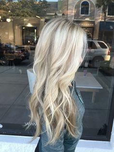Long blonde hair.