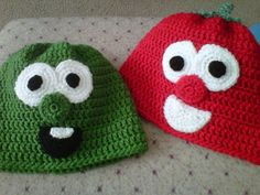 Veggie Tales Bob and Larry crocheted beanies. $22.00, via Etsy.