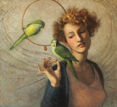 """Augury"" Louise Fenne, oil on canvas"