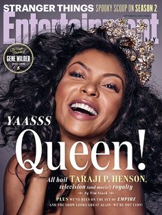 Queen of TV Taraji Henson is our cover star!  Photo credit: James White for EW