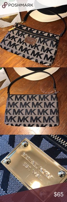 MK wristlet EUC, clean with shiny gold plaque. There are a few scratch marks on gold plate other than that pristine condition. A great going out little bag! I ❤️offers! KORS Michael Kors Bags Clutches & Wristlets