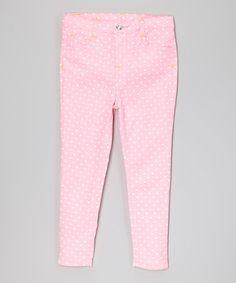 Look at this #zulilyfind! Pink Heart Jeans - Toddler #zulilyfinds