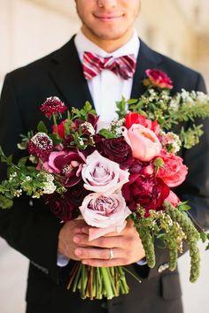 40 Cute Valentine's Day Wedding Bouquets   HappyWedd.com