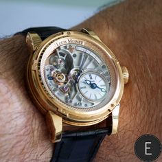 Louis Moinet 20-second Tempograph - rose gold