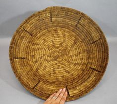 "Large 19 1/2"" Antique Authentic Western Native American Southwest Indian Basket"