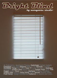 Bright Blind - It's not a real window, folks. Put it in the basement bedroom of your slave child.