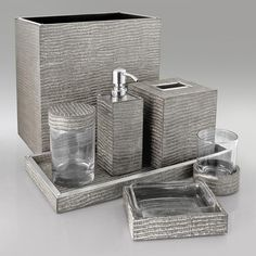 InStyle Decor.com Beverly Hills Luxe Designer Silver Lizard Bathroom Set  Trending Hollywood Home