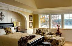 Lavish Lake House Interior Design Home Mutabile Arquitetura . Modern House Design, Modern Interior Design, Modern Interiors, Bed Nook, Home Bedroom, Master Bedroom, Bedroom Alcove, Guest Bedrooms, Guest Room