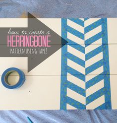 How to create a herringbone pattern on a dresser using tape | LiveLoveDIY
