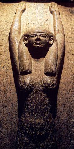 Nut on the sarcophagus of Pharaoh Merenptah, 19th Dynasty Egypt