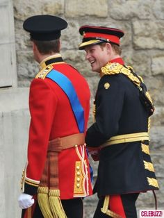 I love this shot.  Prince William  Prince Harry