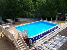 16 x 32 intex pool deck around - Google Search