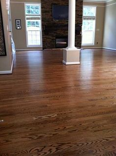 Red Oak With DuraSeal Special Walnut Stain & Bona Traffic Satin Green Step Flooring, Inc. | Hardwood Flooring Photo Gallery