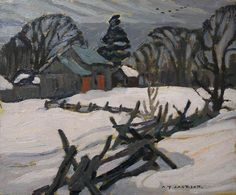 Alexander Young Jackson, 'Snake Fence' at Mayberry Fine Art x Impressionist Landscape, Landscape Art, Landscape Paintings, Landscapes, Emily Carr, Canadian Painters, Canadian Artists, Group Of Seven Paintings, Tom Thomson Paintings
