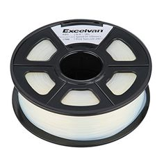 EXCELVAN New 1.75mm Transparent ABS 3D Printer Filament - 1kg Spool (2.2 lbs) - Dimensional Accuracy  /- 0.02mm >>> To view further for this item, visit the image link.