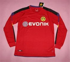 Dortmund 16-17 Season Goalkeeper Red LS Soccer Jersey [H891]