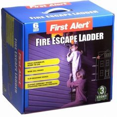 First Alert 3 Story 24 foot Portable Escape Ladder Escape Ladders are also available from 2 story to 5 story sizes Cardboard Storage, Fire Escape, Emergency Supplies, Home Safety, Fire Extinguisher, Window Sill, Survival Gear, Locker Storage, Ladders