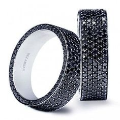 Black Diamond Wedding Band.. YES PLEASE!