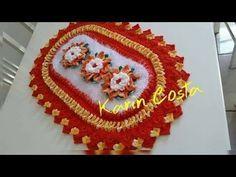 Passo a Passo Tapete Anita com mini borboletas - Pink Artes Croche by Rosana Recchia - YouTube