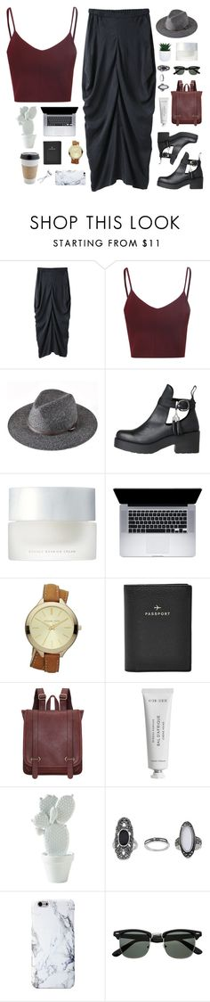 """Untitled #578"" by amy-lopezx ❤ liked on Polyvore featuring Zero + Maria Cornejo, Glamorous, SUQQU, MICHAEL Michael Kors, FOSSIL, Byredo, OUTRAGE, Topshop, BBrowBar and women's clothing"
