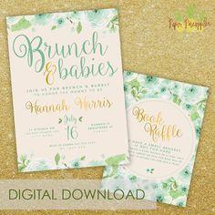 brunch u0026 babies baby shower invitation printable
