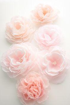 Custom English Rose - Handmade, hand dyed, hand painted bridal hair flower…