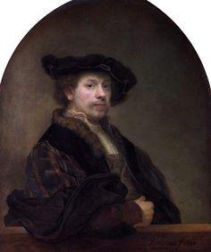 Rembrandt Harmenszoon van Rijn · Autoritratto con cappello · 1640 · National Gallery · London