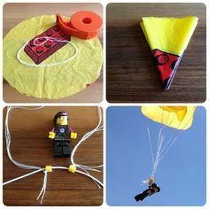 schaeresteipapier: Flugobjekte - Fallschirm für LEGO Minifiguren selbstgemacht