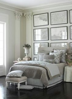 A classic chaise longue in a guest bedroom. #interiors ...