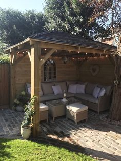 Best Ideas For Backyard Pergola Ideas Patio Design Decor Cozy Backyard, Backyard Seating, Pergola Patio, Pergola Kits, Outdoor Seating, Garden Seating Areas, Diy Patio, Stone Backyard, Corner Pergola