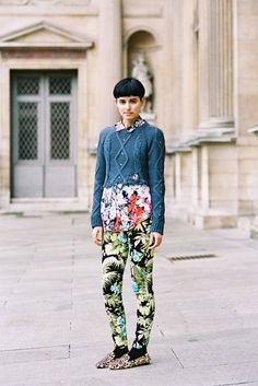Anne-Catherine Frey, after Louis Vuitton, Paris, March 2012.
