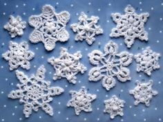 Snowflakes with charts
