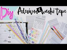 DIY: Como fazer Washi tape e adesivo para planner em casa! - YouTube